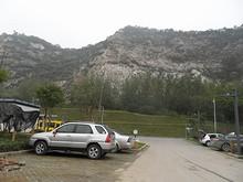 チャリを置いた場所から見た幕府山