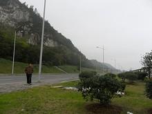 幕府山の絶壁
