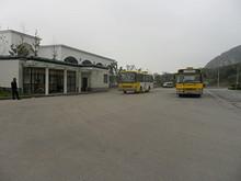 五馬渡広場バス停 307番のバスに乗って帰ります