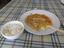 昼飯は双煎土豆丝