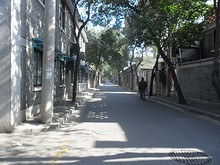 ホステル前の通り
