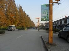 江心洲ブドウ祭りの看板がまだ残っている