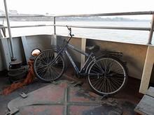 今回は自転車を船に積んで対岸へ渡る