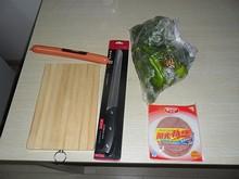 買ってきた調理道具と、食材