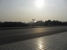 南京科学技術館が見える