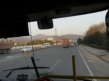 バスから見た栖霞山