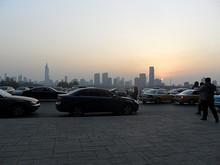 南京駅から見た市中心の高層ビル群