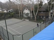 歴史文化園9号館とテニスコート