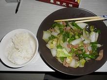 夕飯の野菜炒め