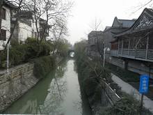 運河が残されていて、景色がいい