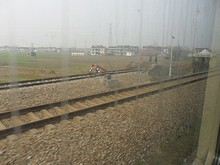 南京方面からの線路と合流