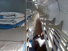 上段寝台と荷物棚