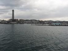 タワー東側の漁港