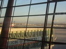 早朝の北京空港