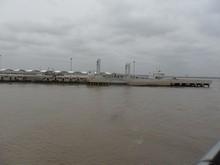 蘆潮港の埠頭