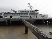 乗って来たカーフェリー「舟橋2号」