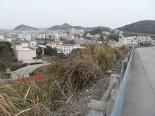 山の上から見た嵊泗県市街