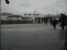 昨日夕方にも見た高速船「茂盛2号」