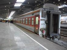 乗って来たK1102次列車の最後尾19号車