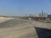 建設中の道路
