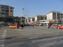 蘇果スーパーのある江寧区の交差点