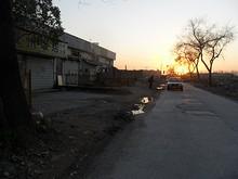 貴州飯店前の通り