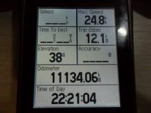 本日の走行距離は12.1kmでした。