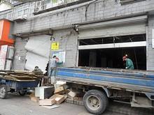 取り壊し中の中山陵郵便局