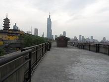 城壁と紫峰タワー