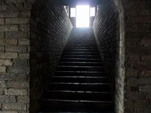 城壁内から、城壁の上に通じる階段