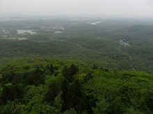 最高点から見た珍珠泉