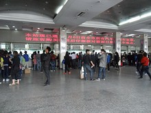 中央門バスターミナルの切符売り場