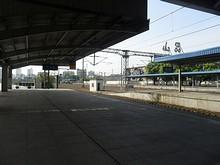 昆山駅1番ホームの端っこ