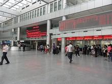 昆山新バスターミナルの切符売り場