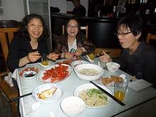 友達一家と夕飯
