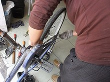 自転車のブレーキ交換