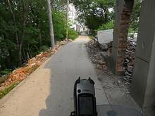 農村の小道