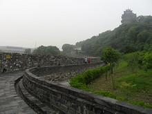 閲江楼と城壁