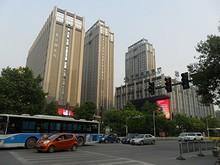 中国民生銀行のある通り