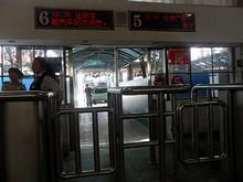 宣城バスターミナル6番ゲート