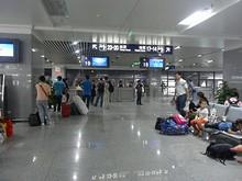 南京南バスターミナルの待合室