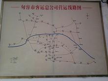 バスターミナルの行先路線図