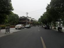 高淳老街バス停付近の通り