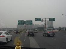 中華門駅まで高架道路を行く