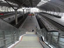 7101列車に乗車