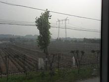 禄口へ行く途中の秣陵付近を通る送電線