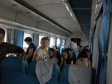 硬座列車の中