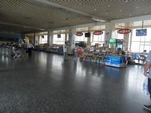 南京中央門バスターミナルの待合室