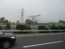 湯山付近の送電線群