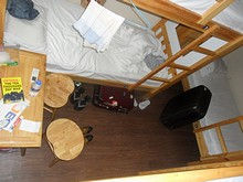 南京路ユースホステルの6人ドミトリー
